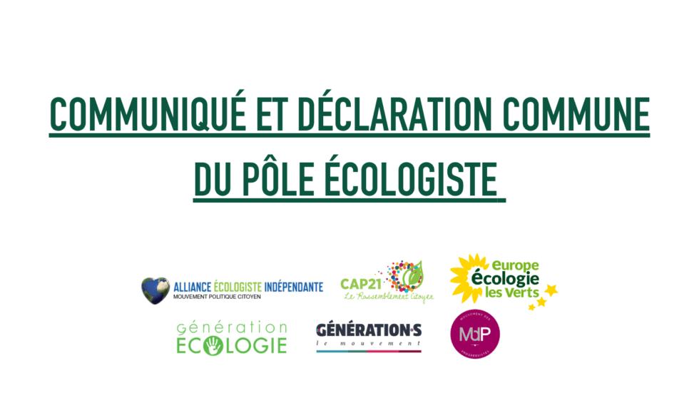 Visuel Communiqué et déclaration commune du pôle écologiste : le référendum sur l'écologie aura lieu en 2022