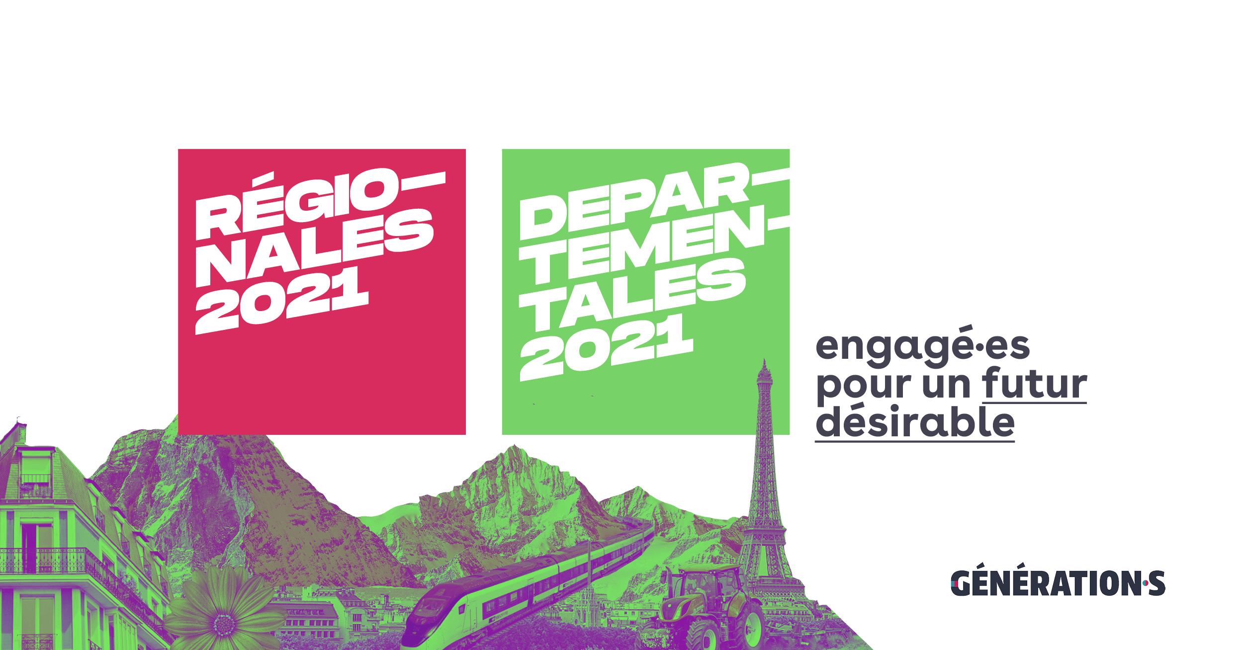 Visuel Départementales et régionales 2021 : Génération·s engagé pour un futur désirable